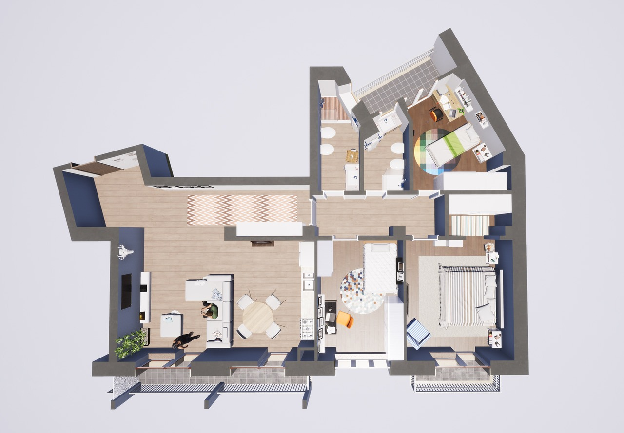 Varese Centro: quadrilocale completamente ristrutturato